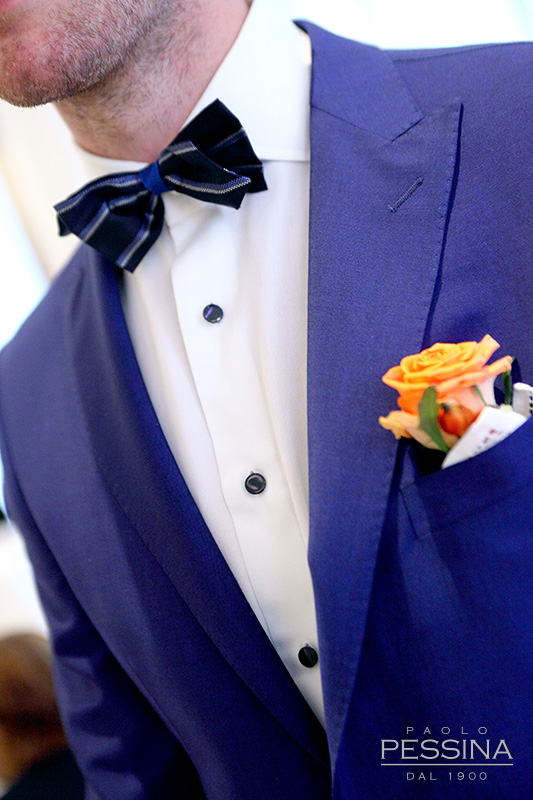 blu is the new groom black blue royal bluette giacca pantalone rever lancia Paolo Pessina Wedding